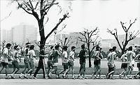 Jogger in Tokyo, Japan