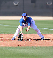 Eric Hosmer #40 of the Kansas City Royals participates in spring training workouts at the Royals complex on February 21, 2011  in Surprise, Arizona. .Photo by:  Bill Mitchell/Four Seam Images.