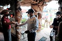 CHIA - COLOMBIA, 25-08-2020: En Cundinamarca comenzo la prueba piloto para reabrir los restaurantes cumpliendo con las normas de bioseguridad exigidas por el gobierno para evitar el contagio del COVID-19, con esto se busca reactivar la economia y permitir al gremio de restaurantes retomar sus actividades con la mayor normalidad posible. / In Cundinamarca, the pilot test began to reopen the restaurants complying with the biosafety standards required by the government to avoid the spread of COVID-19, with this it seeks to reactivate the economy and allow the restaurant union to resume its activities as normally as posible. / Photo: VizzorImage / Johan Rugeles / Cont.