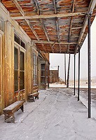 Front porch of Land Office, Bodie State Historic Park, California, USA