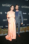 """www.acepixs.com<br /> <br /> October 14 2019, LA<br /> <br /> Lizzy Caplan and and Tom Riley arriving at the premiere of Hulu's """"Castle Rock"""" Season 2 at the AMC Sunset 5 on October 14, 2019 in Los Angeles, California.<br /> <br /> By Line: Famous/ACE Pictures<br /> <br /> <br /> ACE Pictures Inc<br /> Tel: 6467670430<br /> Email: info@acepixs.com<br /> www.acepixs.com"""