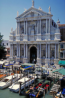 Beautiful architecture along the canals in Venice, Italy. waterways, boat, cityscape, boats, ornate. Venice, Italy.