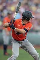 Auburn Tigers catcher Matt Scheffler (6) at bat during Game 4 of the NCAA College World Series against the Mississippi State Bulldogs on June 16, 2019 at TD Ameritrade Park in Omaha, Nebraska. Mississippi State defeated Auburn 5-4. (Andrew Woolley/Four Seam Images)