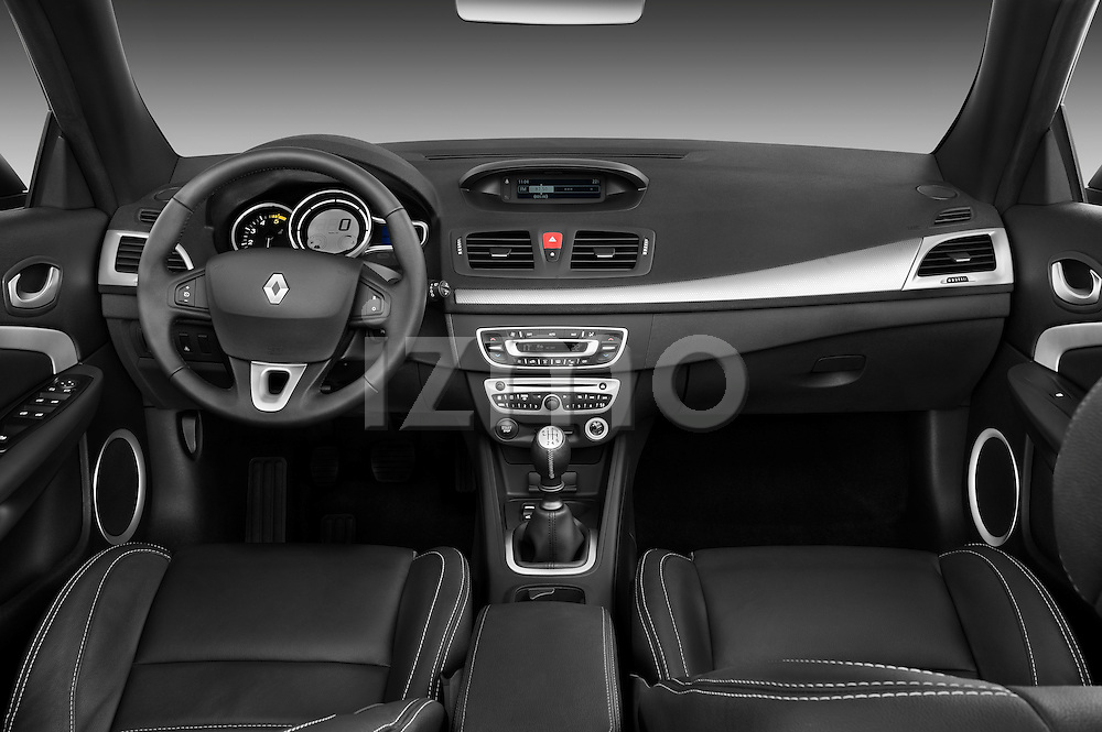 Straight Dashboard View 2010 Renault Megane Coupe Convertible Stock Photo