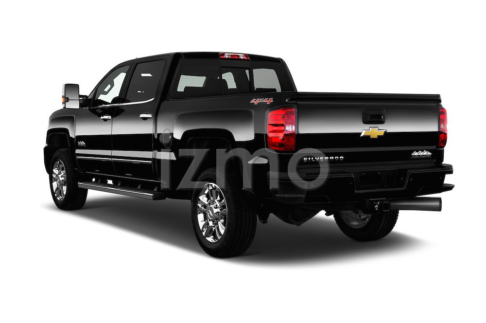 Car pictures of rear three quarter view of 2016 Chevrolet Silverado 2500Hd High Country 4 Door Pick Up Angular Rear