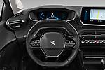 Car pictures of steering wheel view of a 2020 Peugeot 208 Allure 5 Door Hatchback