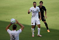 LOS ANGELES, CA - AUGUST 22: Sebastian Lletget #17 of the Los Angeles Galaxy looking for the ball during a game between Los Angeles Galaxy and Los Angeles FC at Banc of California Stadium on August 22, 2020 in Los Angeles, California.