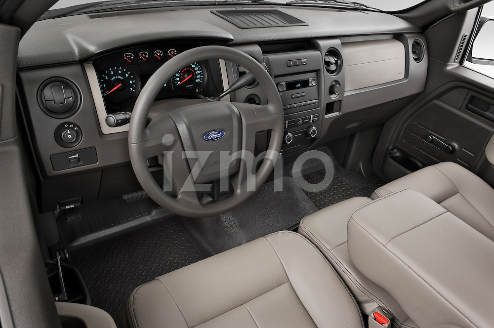 High angle dashboard view of a 2009 Ford F150 XL Super Cab