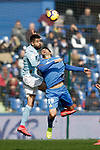 Getafe CF's Jorge Molina and Celta de Vigo's Nestor Araujo during La Liga match. February 09,2019. (ALTERPHOTOS/Alconada)