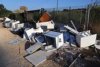 Discarica abusiva nel Frusinate. Illegal dump in Frusinate.