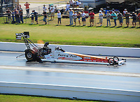 Apr. 29, 2011; Baytown, TX, USA: NHRA top fuel dragster driver Clay Millican during qualifying for the Spring Nationals at Royal Purple Raceway. Mandatory Credit: Mark J. Rebilas-