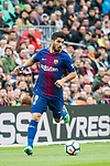 Luis Alberto Suarez Diaz of FC Barcelona in action during the La Liga 2017-18 match between FC Barcelona and Valencia CF at Camp Nou on 14 April 2018 in Barcelona, Spain. Photo by Vicens Gimenez / Power Sport Images