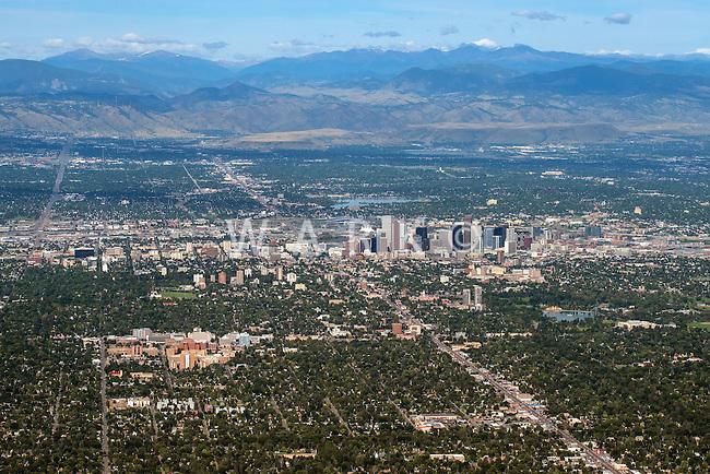 Denver, Colorado. Looking west. Aug 21, 2014.  812960