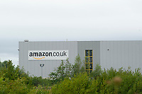 Pictured: A general view of Amazons warehouse in Swansea <br /> Friday 03 August 2018<br /> Re: The effect of increasing business rates and internet retail giant Amazon has had on the High Street in Swansea, Wales, UK.