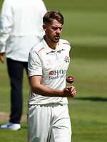 27th May 2021; Emirates Old Trafford, Manchester, Lancashire, England; County Championship Cricket, Lancashire versus Yorkshire, Day 1; Tom Bailey of Lancashire prepares to bowl
