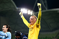 22nd May 2021, Melbourne, Australia;  Tom Glover of Melbourne City celebrates the win during the Hyundai A-League football match between Melbourne City FC and Central Coast Mariners at AAMI Park in Melbourne, Australia.