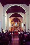 Mexico, Baja California Sur, Loreto, Mission Neustra Senora de Loreto, Sunday Mass