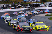 #12: Ryan Blaney, Team Penske, Ford Fusion Menards/Sylvania and #78: Martin Truex Jr., Furniture Row Racing, Toyota Camry 5-hour ENERGY/Bass Pro Shops restart