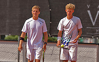 Netherlands, Rotterdam August 08, 2015, Tennis,  National Junior Championships, NJK, TV Victoria, Boys doubles: Bart Stevens and Michiel de Krom (R)<br /> Photo: Tennisimages/Henk Koster