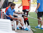 Kyle Hutton on crutches after his training ground injury