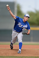 Kansas City Royals pitcher Jon Fitzsimmons (50) during an Instructional League game against the Cleveland Indians on October 9, 2013 at Surprise Stadium Training Complex in Surprise, Arizona.  (Mike Janes/Four Seam Images)