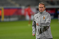head of team and individual fitness Richard Evans of Belgium pictured before a soccer game between the national teams Under21 Youth teams of Belgium and Denmark on the fourth matday in group I for the qualification for the Under 21 EURO 2023 , on tuesday 12 th of october 2021  in Leuven , Belgium . PHOTO SPORTPIX   STIJN AUDOOREN