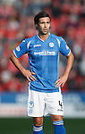 Aberdeen v St Johnstone...03.10.15   SPFL   Pittodrie, Aberdeen<br /> Simon Lappin<br /> Picture by Graeme Hart.<br /> Copyright Perthshire Picture Agency<br /> Tel: 01738 623350  Mobile: 07990 594431