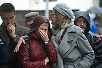 Tribute to the chief of police of Andoain Joseba Pagazartundua murdered by the terrorist group ETA eleven years. Maite Pagaza (r)tries to comfort to the widow Estibaliz Garmendia. (Alterphotos/Mikel)