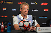 Santa Clara, CA - Friday June 03, 2016: United States manager Jurgen Klinsmann during a Copa America Centenario Group A match between United States (USA) and Colombia (COL) at Levi's Stadium.