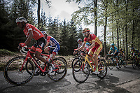 Spanish National Champion Jesus Herrada (ESP/Cofidis) up the Cote de Mont-le-Soie)<br /> <br /> 104th Liège - Bastogne - Liège 2018 (1.UWT)<br /> 1 Day Race: Liège - Ans (258km)
