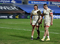 26 February 2021; Jordi Murphy and Nick Timoney after the Guinness PRO14 match between Ulster and Ospreys at Kingspan Stadium in Belfast. Photo by John Dickson/Dicksondigital