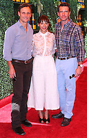 PACIFIC PALISADES, CA, USA - OCTOBER 11: Tony Goldwyn, Rashida Jones, Scott Foley arrive at the 5th Annual Veuve Clicquot Polo Classic held at Will Rogers State Historic Park on October 11, 2014 in Pacific Palisades, California, United States. (Photo by Xavier Collin/Celebrity Monitor)