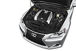 Car Stock 2015 Lexus LS 350 F Sport 4 Door Sedan Engine high angle detail view