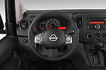 Car pictures of steering wheel view of a 2014 Nissan NV 200 Cargo S 5 Door Van Steering Wheel