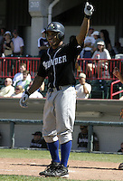 September 6, 2004:  Outfielder Kevin Thompson of the Trenton Thunder during a game at Jerry Uht Park in Erie, PA.  The Thunder are the Double-A Eastern League affiliate of the New York Yankees.  Photo By Mike Janes/Four Seam Images