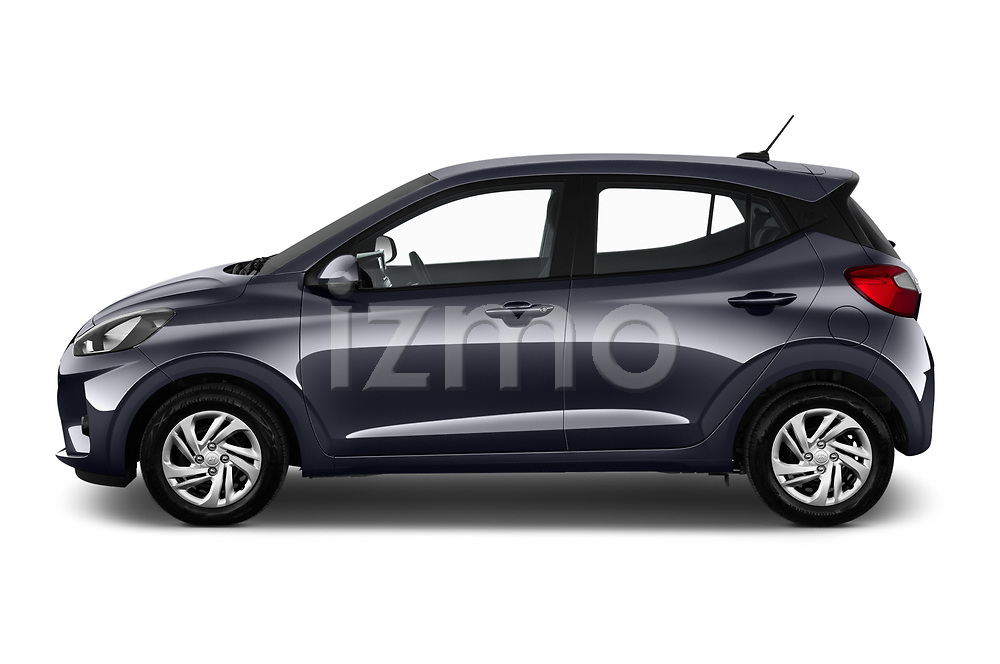 Car Driver side profile view of a 2020 Hyundai i10 Twist 5 Door Hatchback Side View
