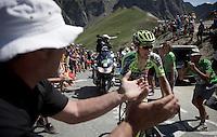 stage leader Rafal Majka (POL/Tinkoff-Saxo) up the Col du Tourmalet (HC/2115m/17km/7.3%)<br /> <br /> st11: Pau - Cauterets (188km)<br /> 2015 Tour de France