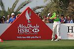 Charl Schwartzel teeing off on the 14th on day 3 of the Abu Dhabi HSBC Golf Championship 2011, at the Abu Dhabi golf club, UAE. 22/1/11..Picture Fran Caffrey/www.golffile.ie.
