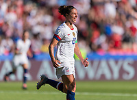 PARIS,  - JUNE 16: Carli Lloyd #10 celebrates her goal during a game between Chile and USWNT at Parc des Princes on June 16, 2019 in Paris, France.