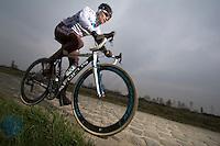 Paris-Roubaix 2013 RECON..Valentin IGLINSKIY (KAZ)..