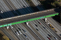 aerial photograph rail overpass San Jose, Santa Clara county, California