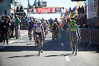 Mark Cavendish (GBR/DimensionData) wins his 30th Tour de France stage (his 4th in 2016) while Peter Sagan (SVK/Tinkoff) finishes 3rd and remains in green<br /> <br /> st14: Montélimar - Villars-les-Dombes/Parc des Oiseaux (208.5km)<br /> 103rd Tour de France 2016