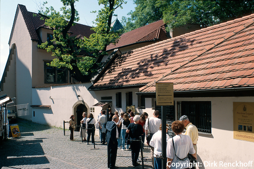 Pinkas Synagoge, Prag, Tschechien, Unesco-Weltkulturerbe.
