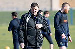 St Johnstone Training….26.02.19   <br />Manager Tommy Wright pictured during training this morning at McDiarmid Park ahead of tomorrow's game against Hibs.<br />Picture by Graeme Hart.<br />Copyright Perthshire Picture Agency<br />Tel: 01738 623350  Mobile: 07990 594431