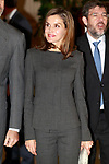 Queen Letizia of Spain attends a meeting at the National Library. November 24, 2017. (ALTERPHOTOS/Acero)