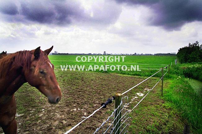 Maasbommel , 250500  Foto: Koos Groenewold /APA<br />Gebied zandwinningslokatie .