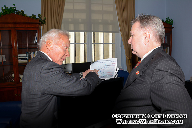 """""""Buzz Aldrin and the Congressman"""" by Art Harman. The time the Apollo 11 astronaut and second man on the moon had a long meeting on restoring the space program."""