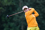 Ye Jin KIM of South Korea tees off at the 14th hole during Round 1 of the World Ladies Championship 2016 on 10 March 2016 at Mission Hills Olazabal Golf Course in Dongguan, China. Photo by Victor Fraile / Power Sport Images