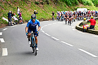 15th July 2021; Luz Ardiden, Hautes-Pyrénées department, France;  LOPEZ MORENO Miguel Angel (COL) of MOVISTAR TEAM during stage 18 of the 108th edition of the 2021 Tour de France cycling race, a stage of 129,7 kms between Pau and Luz Ardiden.