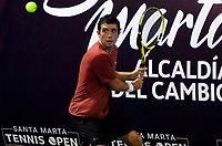 SANTA MARTA - COLOMBIA, 02-12-2019: Taylor Foote, USA, es el quinto clasificado a la segunda fase del Qualy como parte del M15 Santa Marta Tennis Open 2019 que se juega entre el 2 y el 8 de diciembre de 2109 en el Complejo de raquetas la Libertad de la ciudad de Santa Marta. / Taylor Foote, USA, is the fifth classified to the second phase of Qualy as part of M15 Santa Marta Tennis Open 2019 that take place between between December 2 to 8, 2019 at Complejo de raquetas La Libertad in Santa Marta city. VizzorImage / Gustavo Pacheco / Cont